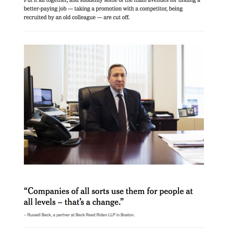 Russell Beck Quoted In The New York Times Beck Reed Riden Llp